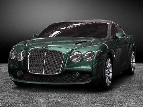 """Bentley GTZ Zagato Car Poster Print on 10 mil Archival Satin Paper 16"""" X 12"""""""