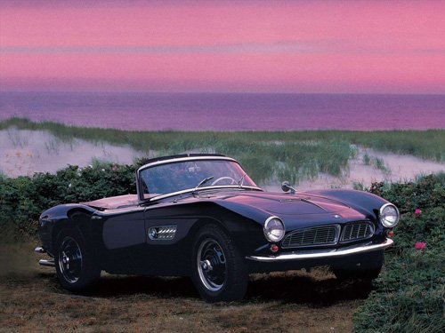 "BMW 507 (1955) Car Poster Print on 10 mil Archival Satin Paper 16"" x 12"""
