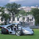 """Campagna T-Rex Car Poster Print on 10 mil Archival Satin Paper 20"""" x 15"""""""