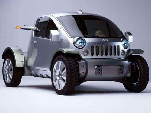 """Jeep Treo Concept Car Poster Print on 10 mil Archival Satin Paper 16"""" x 12"""""""