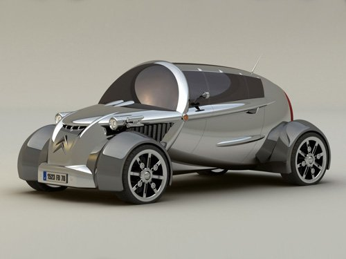 "Citroen C2V Concept Car Poster Print on 10 mil Archival Satin Paper 20"" x 15"""