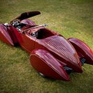 "Deco Rides Boattail Speedster Car Poster Print on 10 mil Archival Satin Paper 16"" x 12"""