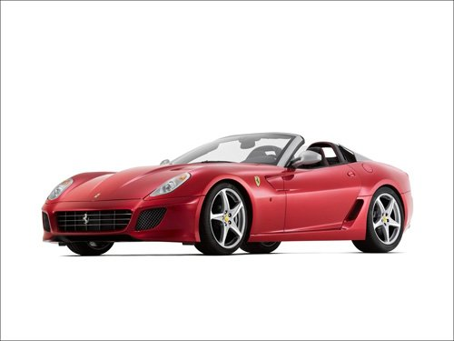 "Ferrari 599 SA Aperta Car Poster Print on 10 mil Archival Satin Paper 16"" x 12"""