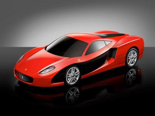 "Ferrari Vigore TCA Car Poster Print on 10 mil Archival Satin Paper 16"" x 12"""