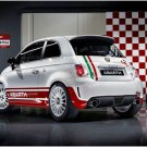 "Fiat Abarth 500 R3T Rally Car Poster Print on 10 mil Archival Satin Paper 16"" x 12"""