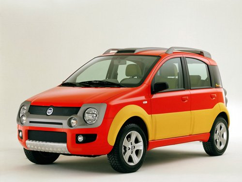 """Fiat Simba Concept Car Poster Print on 10 mil Archival Satin Paper 16"""" x 12"""""""