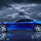"Fisker Karma S Car Poster Print on 10 mil Archival Satin Paper 16"" x 12"""