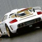 "Gemballa Mirage GT Gold Porsche Car Poster Print on 10 mil Archival Satin Paper 16"" x 12"""