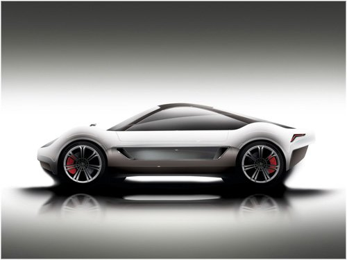 "GT Crossover Concept Design Car Poster Print on 10 mil Archival Satin Paper 20"" x 15"""