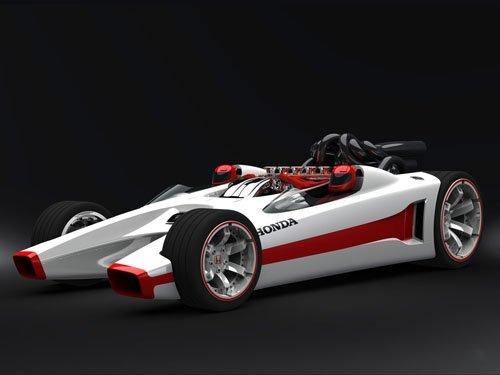 "Honda Racer Car Poster Print on 10 mil Archival Satin Paper 16"" x 12"""