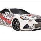 "Hyundai GReddy X-Gen Street Genesis Coupe Car Poster Print on 10 mil Archival Satin Paper 16"" x 12"""