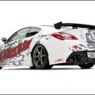 "Hyundai GReddy X-Gen Street Genesis Coupe Car Poster Print on 10 mil Archival Satin Paper 20"" x 15"""