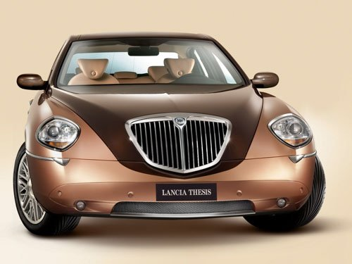"""Lancia Thesis Bicolore Car Poster Print on 10 mil Archival Satin Paper 16"""" x 12"""""""