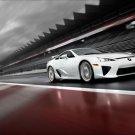 "Lexus LFA On Race Track Car Poster Print on 10 mil Archival Satin Paper 20"" x 15"""