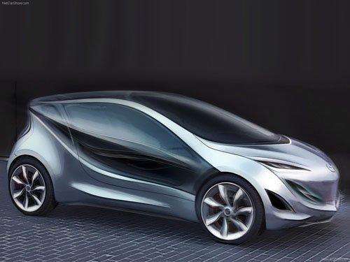 """Mazda Kiyora Concept Car Poster Print on 10 mil Archival Satin Paper 16"""" x 12"""""""