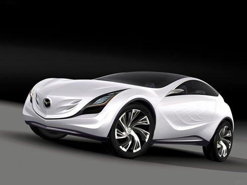 """Mazda Kazamai Concept Car Poster Print on 10 mil Archival Satin Paper 16"""" x 12"""""""