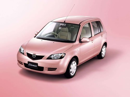 """Mazda Demio Stardust Pink Limited Edition Car Poster Print on 10 mil Archival Satin Paper 16"""" x 12"""""""