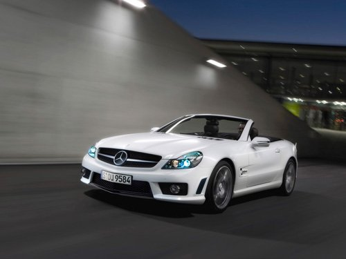 "Mercedes-Benz SL 63 AMG IWC Car Poster Print on 10 mil Archival Satin Paper 16"" x 12"""