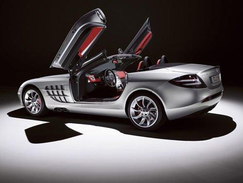 "Mercedes-Benz SLR Roadster Car Poster Print on 10 mil Archival Satin Paper 16"" x 12"""