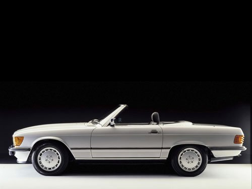 "Mercedes-Benz R-107 SL Class Roadster Car Poster Print on 10 mil Archival Satin Paper 16"" x 12"""