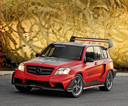 """Mercedes-Benz GLK Pikes Peak Rally Racer Car Poster Print on 10 mil Archival Satin Paper 16"""" x 12"""""""