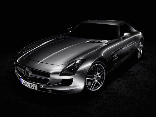 "Mercedes-Benz SLS AMG (2011) Car Poster Print on 10 mil Archival Satin Paper 16"" x 12"""