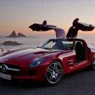 "Mercedes SLS AMG (2011) Car Poster Print on 10 mil Archival Satin Paper 16"" x 12"""