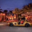 "Mercedes Benz SLS AMG Desert Gold 2010 Car Poster Print on 10 mil Archival Satin Paper 16"" x 12"""