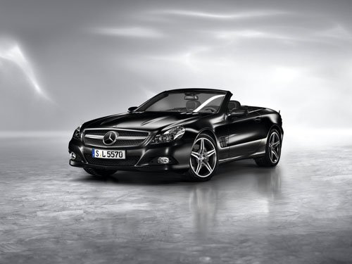 """Mercedes-Benz SL Night Edition 2010 Car Poster Print on 10 mil Archival Satin Paper 16"""" x 12"""""""