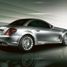 "Mercedes-Benz SLK 55 AMG Special Series Car Poster Print on 10 mil Archival Satin Paper 16"" x 12"""