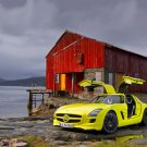 """Mercedes-Benz SLS AMG E-Cell Concept Car Poster Print on 10 mil Archival Satin Paper 16"""" x 12"""""""