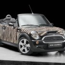 "Mini Cooper Wears Bisazza Zebra Concept Car Poster Print on 10 mil Archival Satin Paper 16"" x 12"""