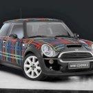 "Mini Cooper Wears Bisazza Tartan Concept Car Poster Print on 10 mil Archival Satin Paper 16"" x 12"""