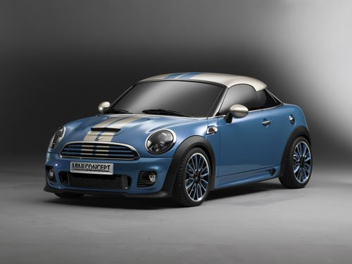 """Mini Coupe Concept Car Poster Print on 10 mil Archival Satin Paper 16"""" x 12"""""""
