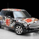 "Mini Cooper Wears Bisazza Flowers Concept Car Poster Print on 10 mil Archival Satin Paper 20"" x 15"""