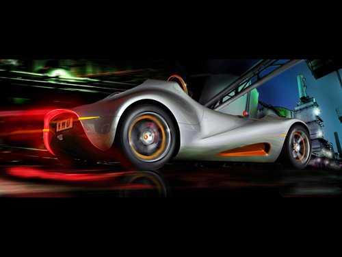 """Morey Concept by Felix Runde Industry Car Poster Print on 10 mil Archival Satin Paper 16"""" x 12"""""""