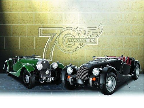 "Morgan 70th Anniversary Car Poster Print on 10 mil Archival Satin Paper 16"" x 12"""