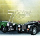 "Morgan 70th Anniversary Car Poster Print on 10 mil Archival Satin Paper 16"" x 12"""