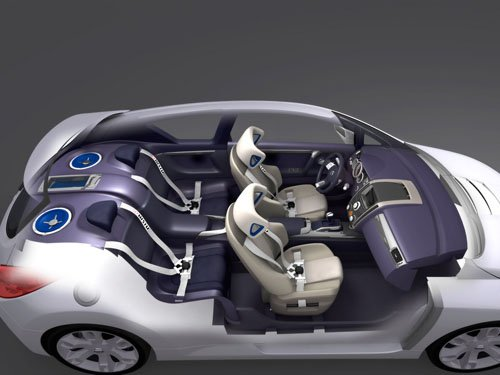 "Nissan Sport Concept Car Poster Print on 10 mil Archival Satin Paper 16"" X 12"""