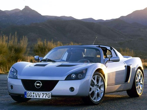 "Opel Speedster Turbo Car Poster Print on 10 mil Archival Satin Paper 16"" x 12"""