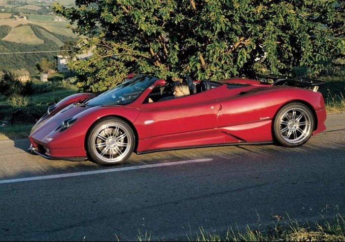 """Pagani C12-S Roadster Car Poster Print on 10 mil Archival Satin Paper 16"""" x 12"""""""