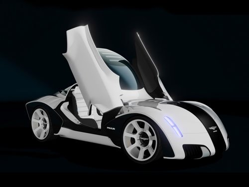 "Paulin VR Concept Car Poster Print on 10 mil Archival Satin Paper 16"" x 12"""