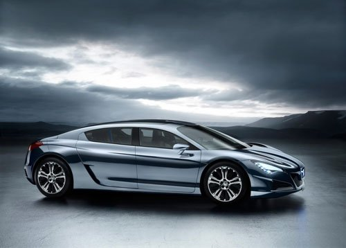 """Peugeot RC HYmotion4 Concept Car Poster Print on 10 mil Archival Satin Paper 16"""" x 12"""""""