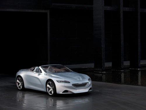 "Peugeot SR1 Top Down Concept Car Poster Print on 10 mil Archival Satin Paper 16"" x 12"""
