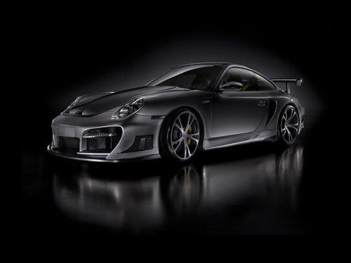 "Porsche 911 TechArt GT Street R Concept Car Poster Print on 10 mil Archival Satin Paper 16"" x 12"""