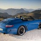 "Porsche 911 Carrera Speedster Car Poster Print on 10 mil Archival Satin Paper 16"" x 12"""