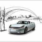 "Protoscar LAMPO Sports Car Poster Print on 10 mil Archival Satin Paper 16"" x 12'"