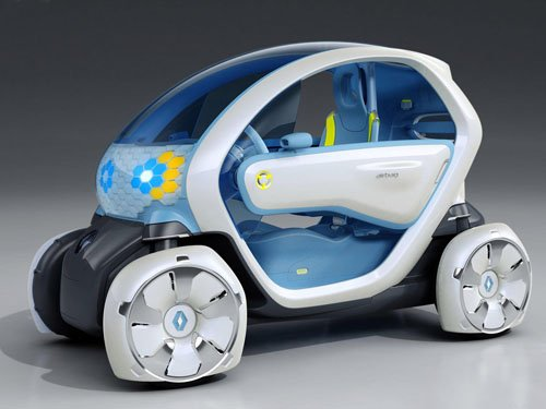 """Renault Twizy ZE Concept Car Poster Print on 10 mil Archival Satin Paper 16"""" x 12"""""""