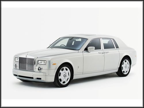"Rolls-Royce Phantom Silver Car Poster Print on 10 mil Archival Satin Paper 16"" x 12"""