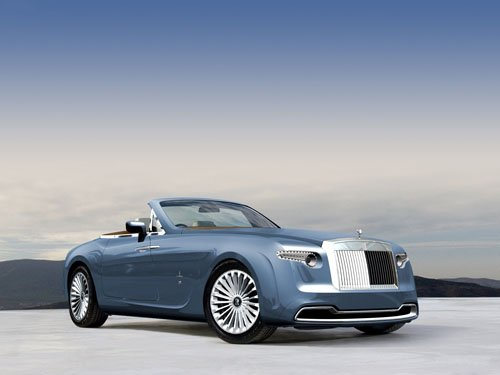 "Rolls-Royce Pininfarina Hyperion Car Top Down Poster Print  on 10 mil Archival Satin Paper 16"" x 12"""